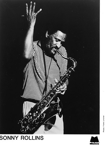 Sonny Rollins reaching.