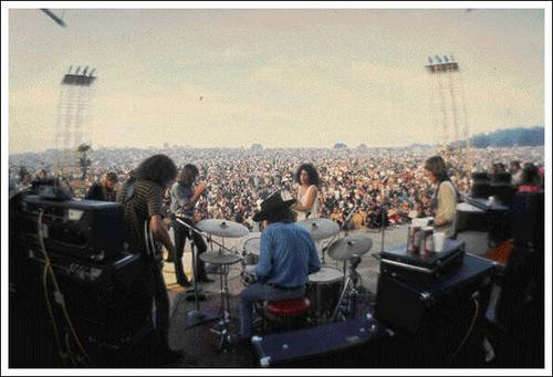 Happier times...the Airplane at Woodstock .