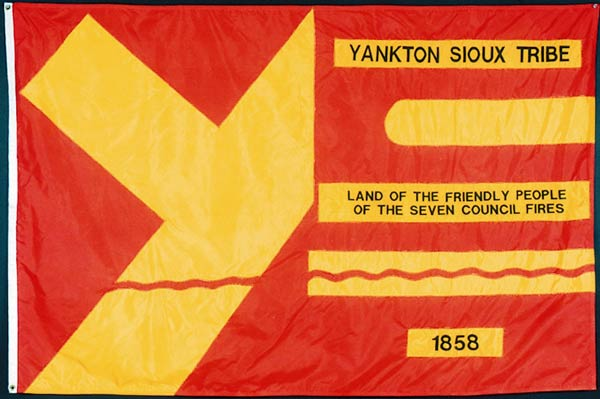 Flag of the Yankton Sioux tribe.