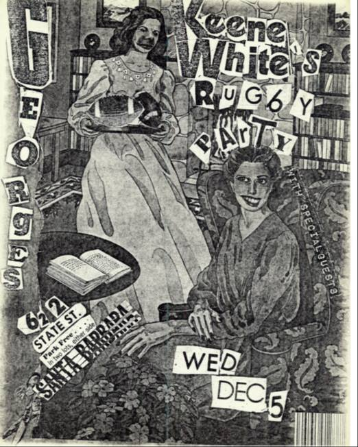 Keene White Rugby Party flyer by Al Poe