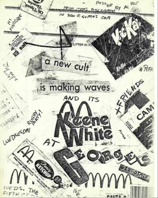 Al Poe's legendarty flyer made from litter, 1979