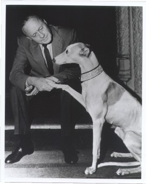 Jack Benny with dog