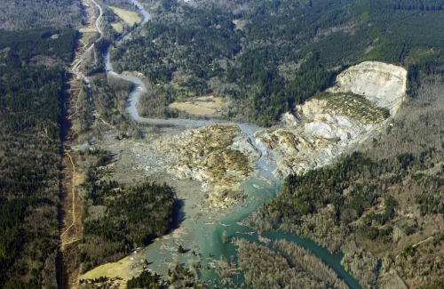 Mudslide at Oso, Washington. Dozens dead, scores missing.