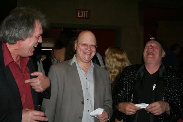 Me, John Altman and Neil Innes (in that order) at the Egyptian Theater for the decades late premiere of The Rutles, in color. Colour. Whatever.