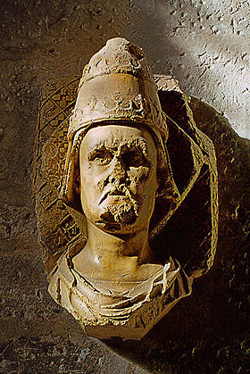 Clement VII, or what was left of him after blasphemous French Revolutionaries got ahold of him. He eventually took up extortion and simony--selling parishes and bishoprics to the highest bidder--to maintain his anti-papal lifestyle. You do what you gotta do.