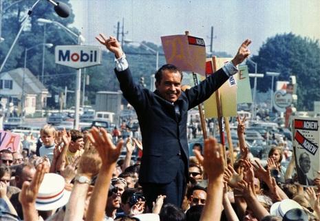 Richard Nixon on brown acid at Woodstock.