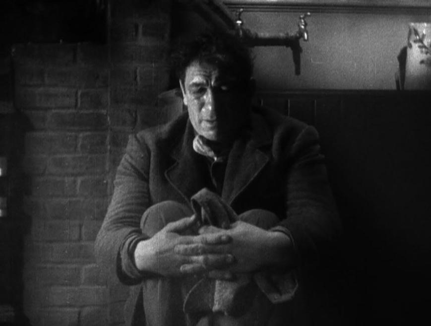 Victor McLaglen as Gypo Nolan.