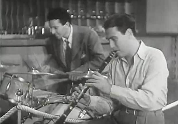 Artie Shaw with Nick Fatool in Second Chorus. Not much of a movie but everything is jumping in this scene.