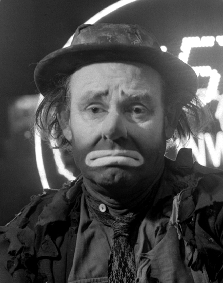 Emmett Kelly scaring the hell out of you.