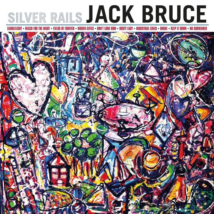 "Jack Bruce's final release, Silver Rails. The extraordinary painting is Sacha Jafri's ""The Child Within - The New Adventure"".  Few musicians have the confidence to share an album cover with something so extraordinary."