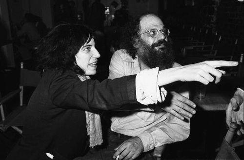 Patti Smith pointing, Allen Ginsburg not howling.