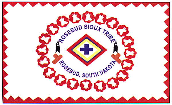 The flag of the Rosebud Sioux Tribe. About half of the nation's 566 federally recognized tribe's have their own flag.