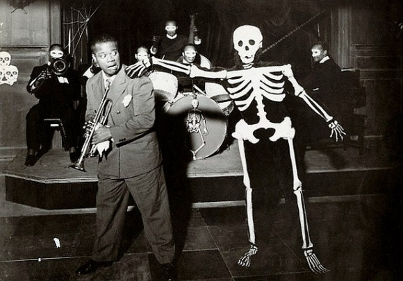 "Louis Armstrong and Death itself, ""Pennies from Heaven"" (1935)."