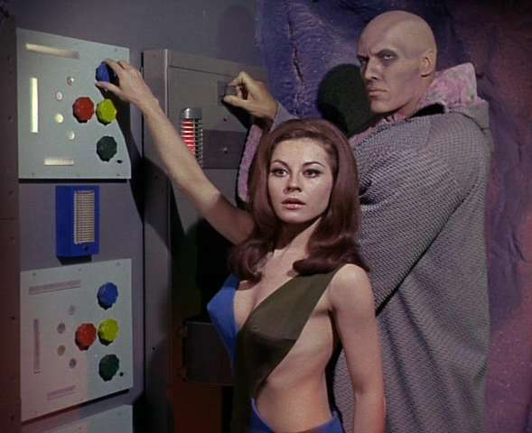Sherry Jackson and friend.