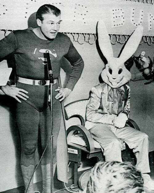 Emcee George Reeves at the first Playboy Jazz Festival, 1955.