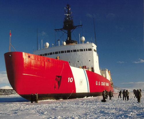 Our national icebreaker, USS Polar Star, in better days.