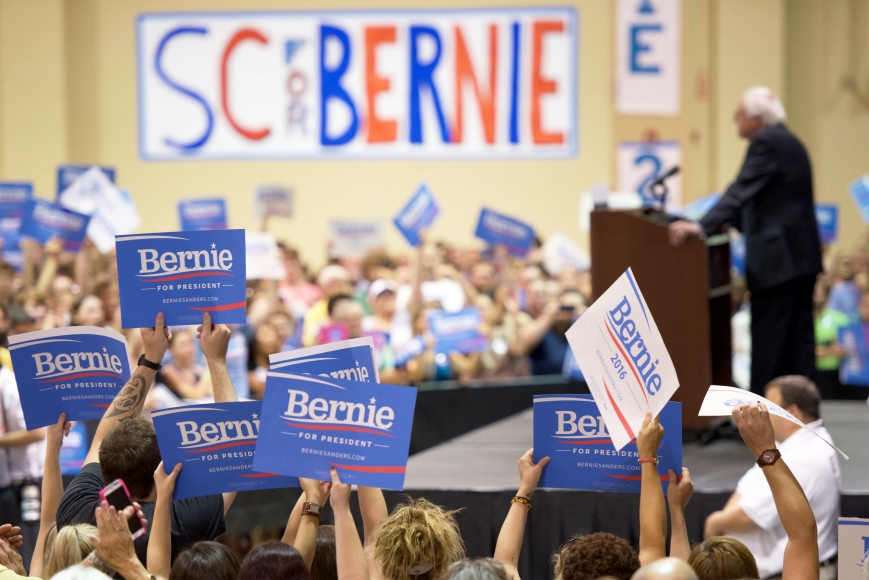 Bernie Sanders rally in Charleston, South Carolina.