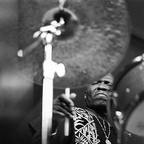 Elvin Jones. No idea who took the shot, but thanks to drummer Fritz Wise for posting it.