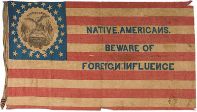 Know Nothing flag, mid-1850's.